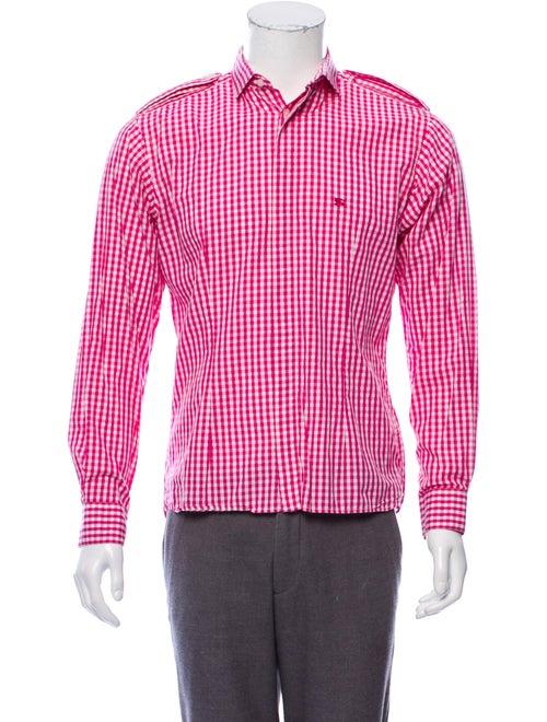 Burberry London Checkered Button-Up Shirt magenta