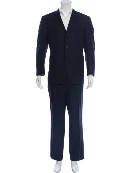 Burberry London Wool Two-Piece Suit navy
