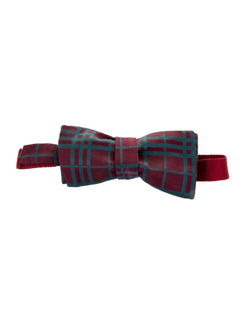 Burberry London Patterned Bow Tie navy