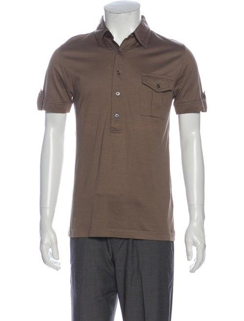 Burberry London Woven Short Sleeve Polo