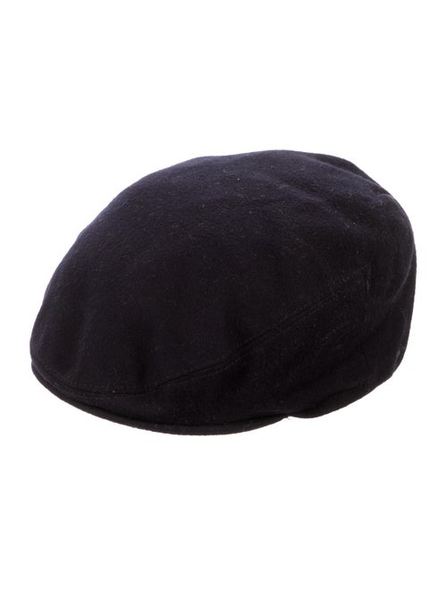 Burberry London Newsboy Wool Hat Navy