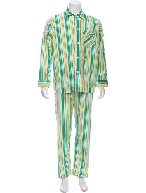 Burberry London Striped Pajama Set Green