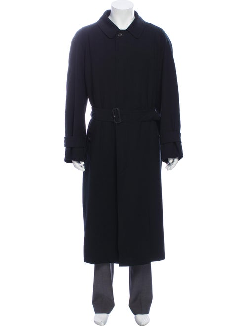 Burberry London House Check Trench Coat black