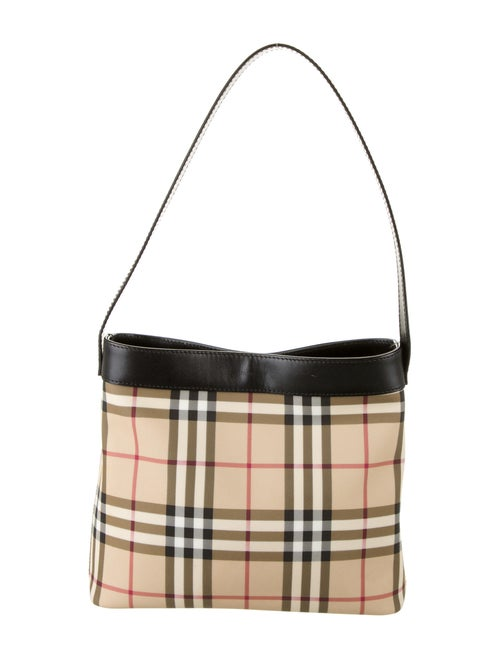 Burberry London Nova Check Shoulder Bag Tan