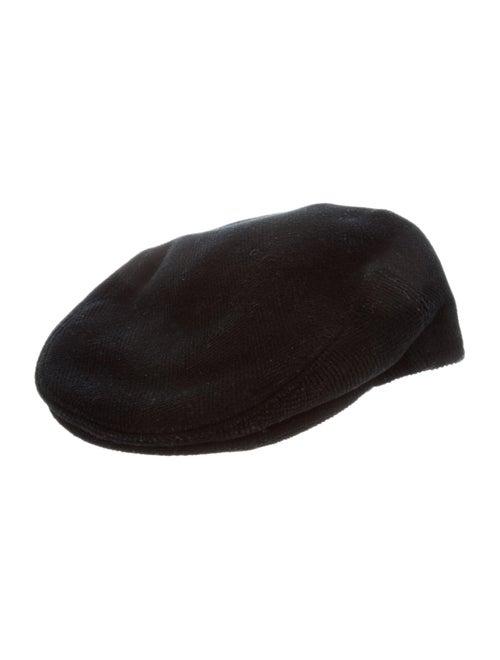 Burberry London Wool Newsboy Hat Black