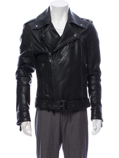 Burberry London Leather Moto Jacket Black