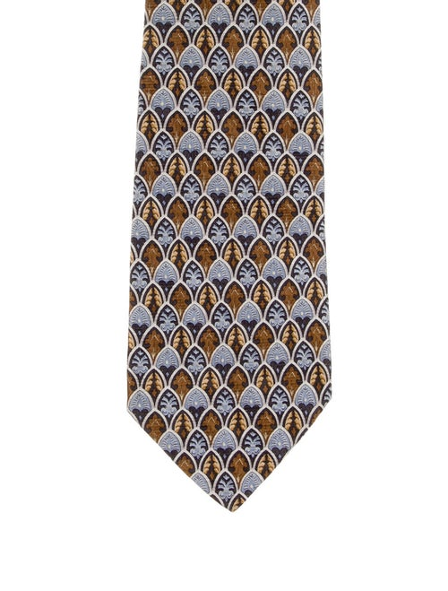 Burberry London Silk Abstract Tie blue