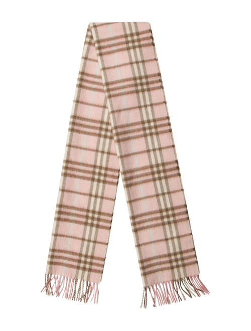 Burberry London Nova Check Cashmere Scarf Pink