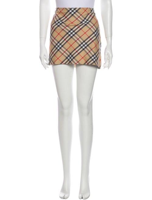 Burberry London Plaid Print Mini Skirt