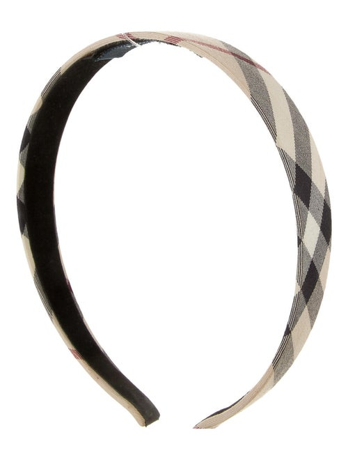 Burberry London Nova Check Headband Beige
