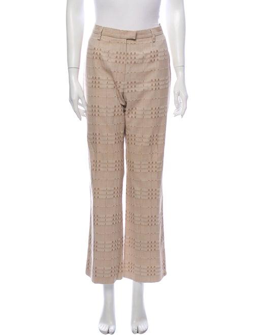 Burberry London Printed Wide Leg Pants