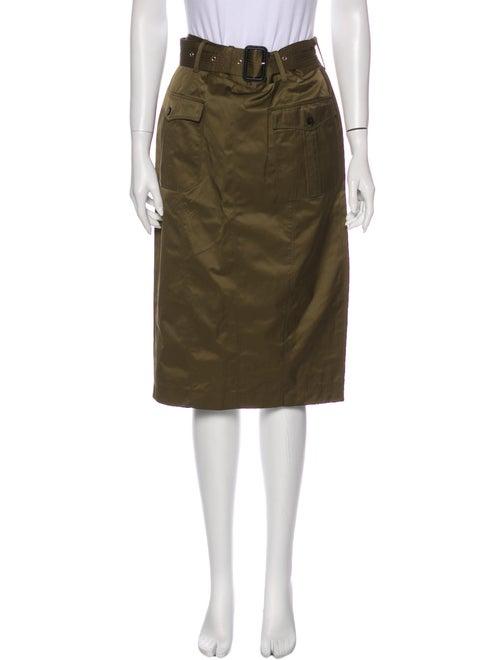 Burberry London Knee-Length Skirt Green