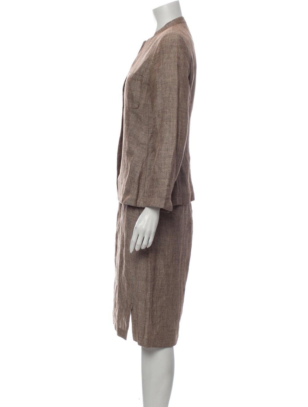 Burberry London Linen Skirt Suit - image 2