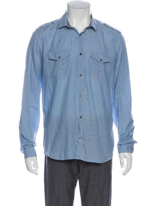 Burberry London Long Sleeve Shirt Blue