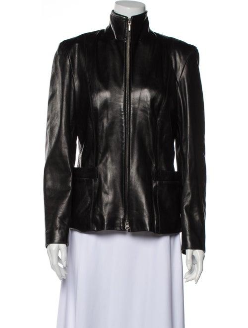 Burberry London Leather Jacket Black