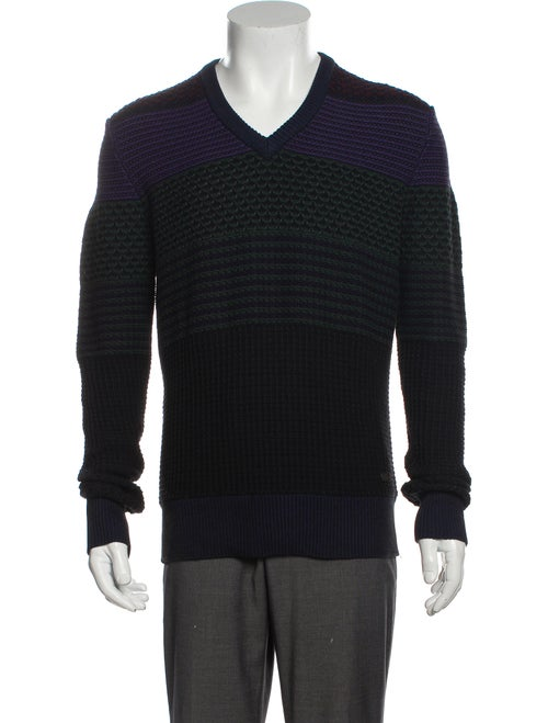 Burberry London Striped Striped Pullover Blue