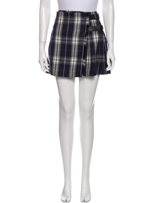 Burberry London Wool Mini Skirt Mini Skirt Wool