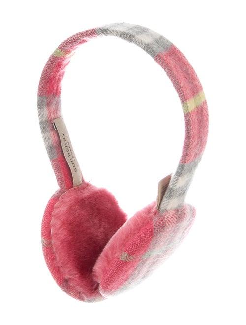 Burberry London Nova Check Cashmere Earmuffs Pink