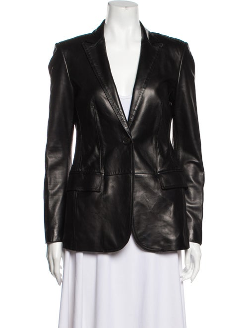Burberry London Blazer Leather Blazer Black