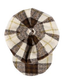 Burberry London Check Wool Newsboy Cap