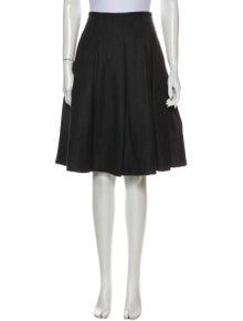 Burberry London Wool Knee-Length Skirt