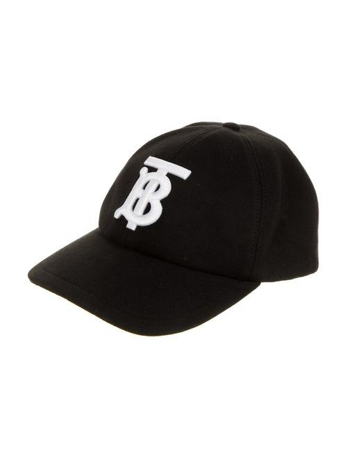 Burberry London Woven Logo Baseball Cap black