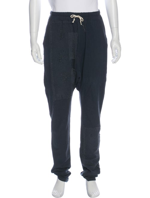 By Walid Distressed Lace-Accented Lounge Pants