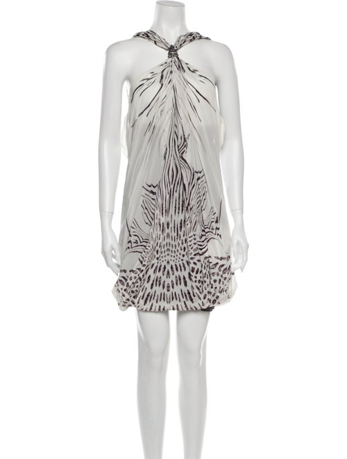 Byblos Silk Mini Dress White