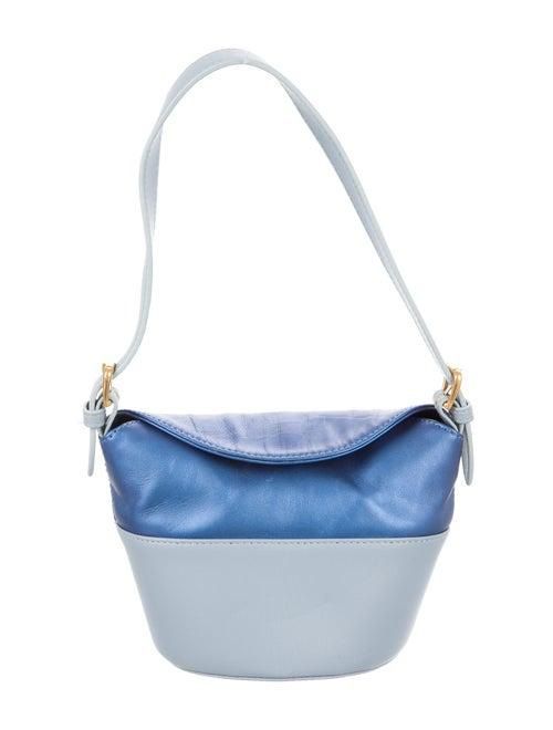 By Far Colorblock Bucket Bag Blue