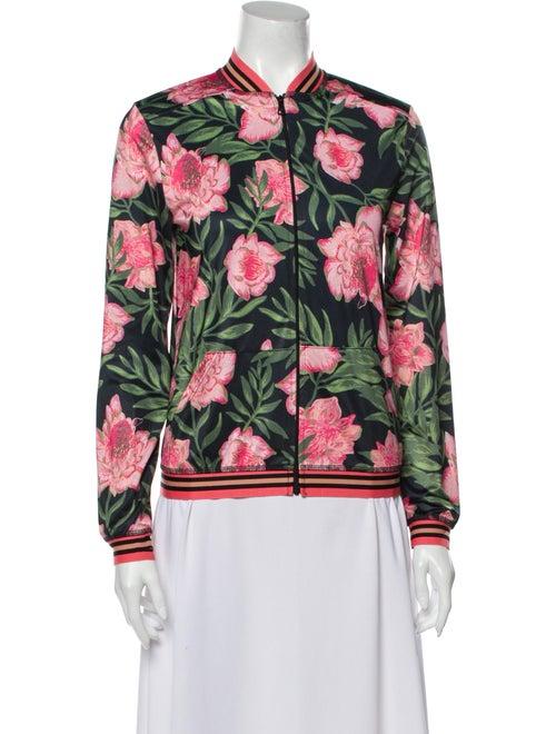 Beyond Yoga Floral Print Bomber Jacket Pink