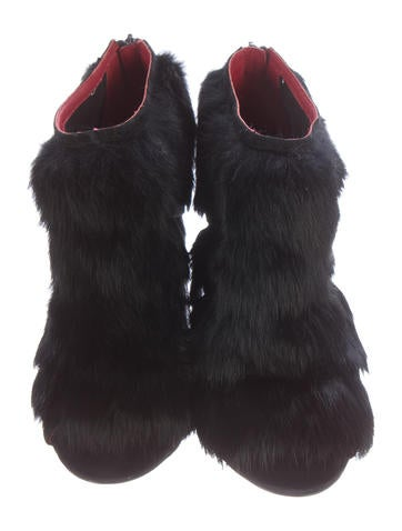 Ecliptic Fur Booties