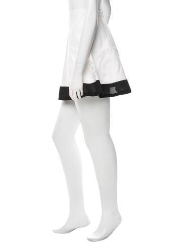 Mesh-Trimmed Ponte Skirt w/ Tags