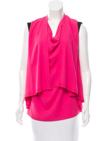 Cut25 by Yigal Azrouël Sleeveless Rib Knit-Trimmed Top None