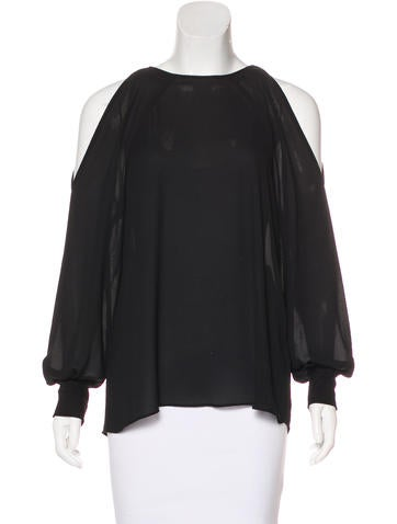 Cut25 by Yigal Azrouël Cold Shoulder Long Sleeve Top None