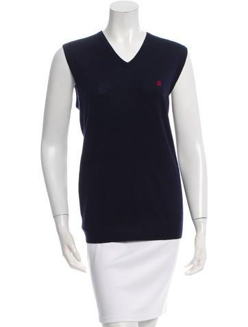 CH Carolina Herrera Sleeveless Wool Top None