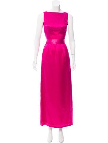 CH Carolina Herrera Sleeveless Satin Gown None