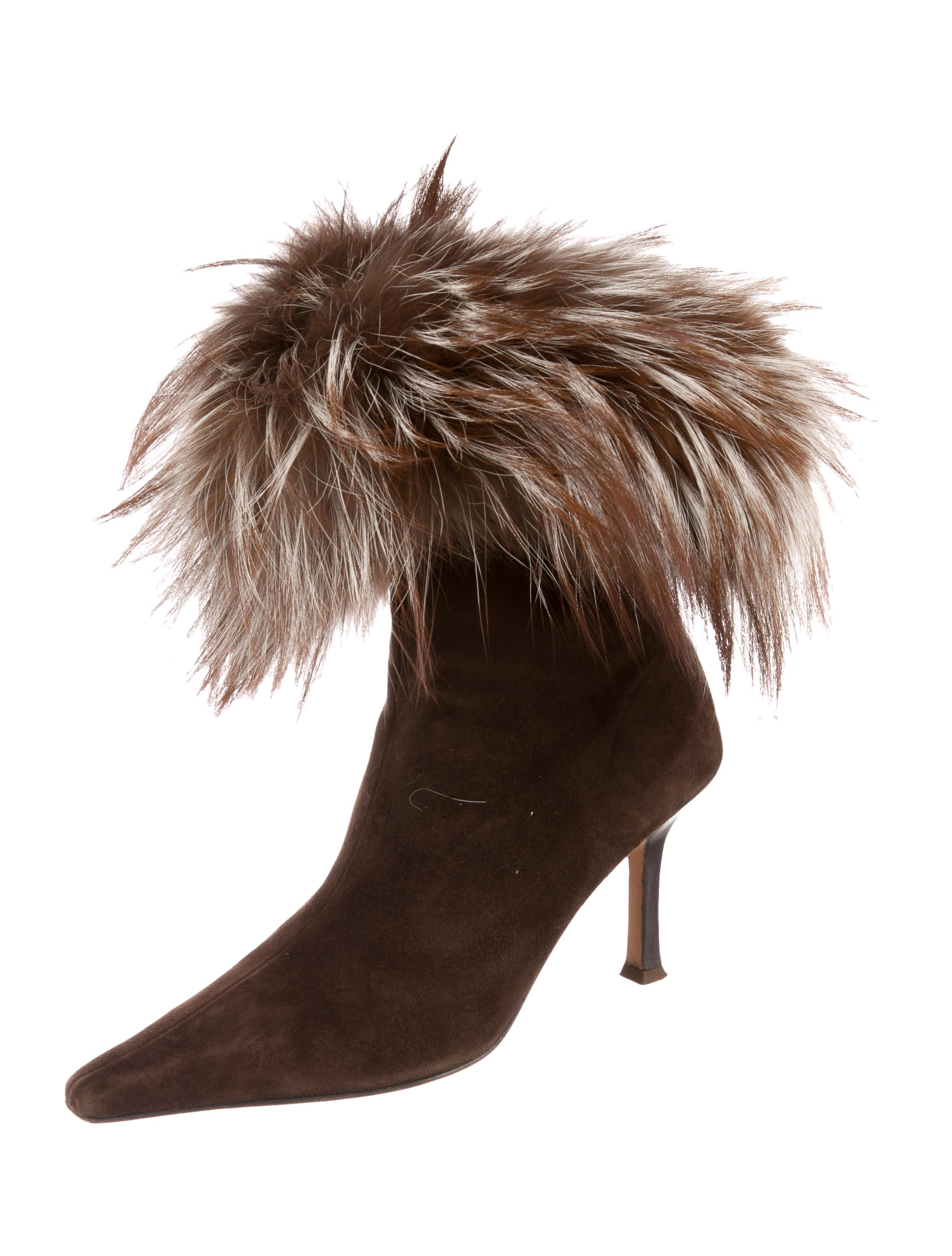 supply sale online CH Carolina Herrera Fur-Trimmed Ankle Boots discount footaction high quality cheap online cheap sale sneakernews UZR6JVv