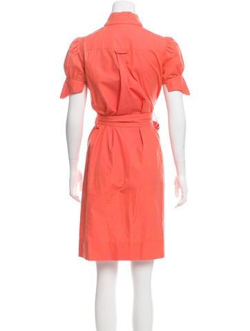 Belted Knee-Length Shirtdress