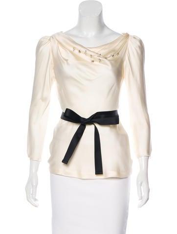 Embellished Long Sleeve Blosue