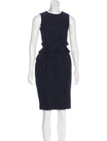 CH Carolina Herrera Sleeveless Lace Dress None