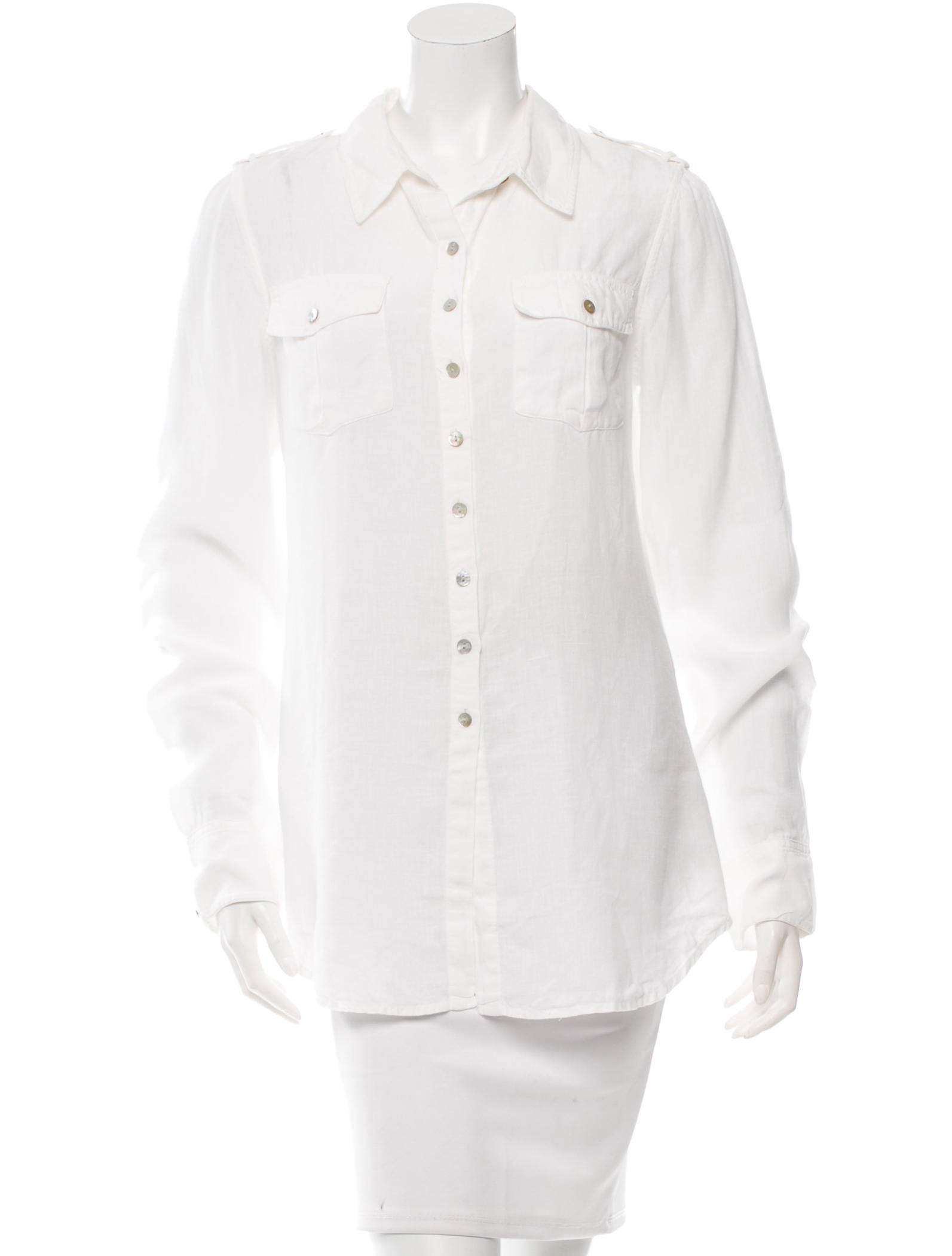 Calypso linen button up top clothing wc820130 the for Linen button up shirt womens
