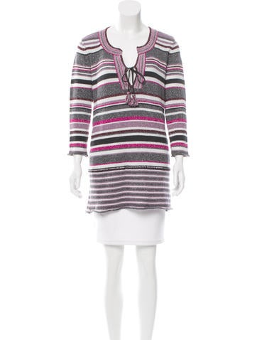 Calypso Wool Striped Tunic w/ Tags None