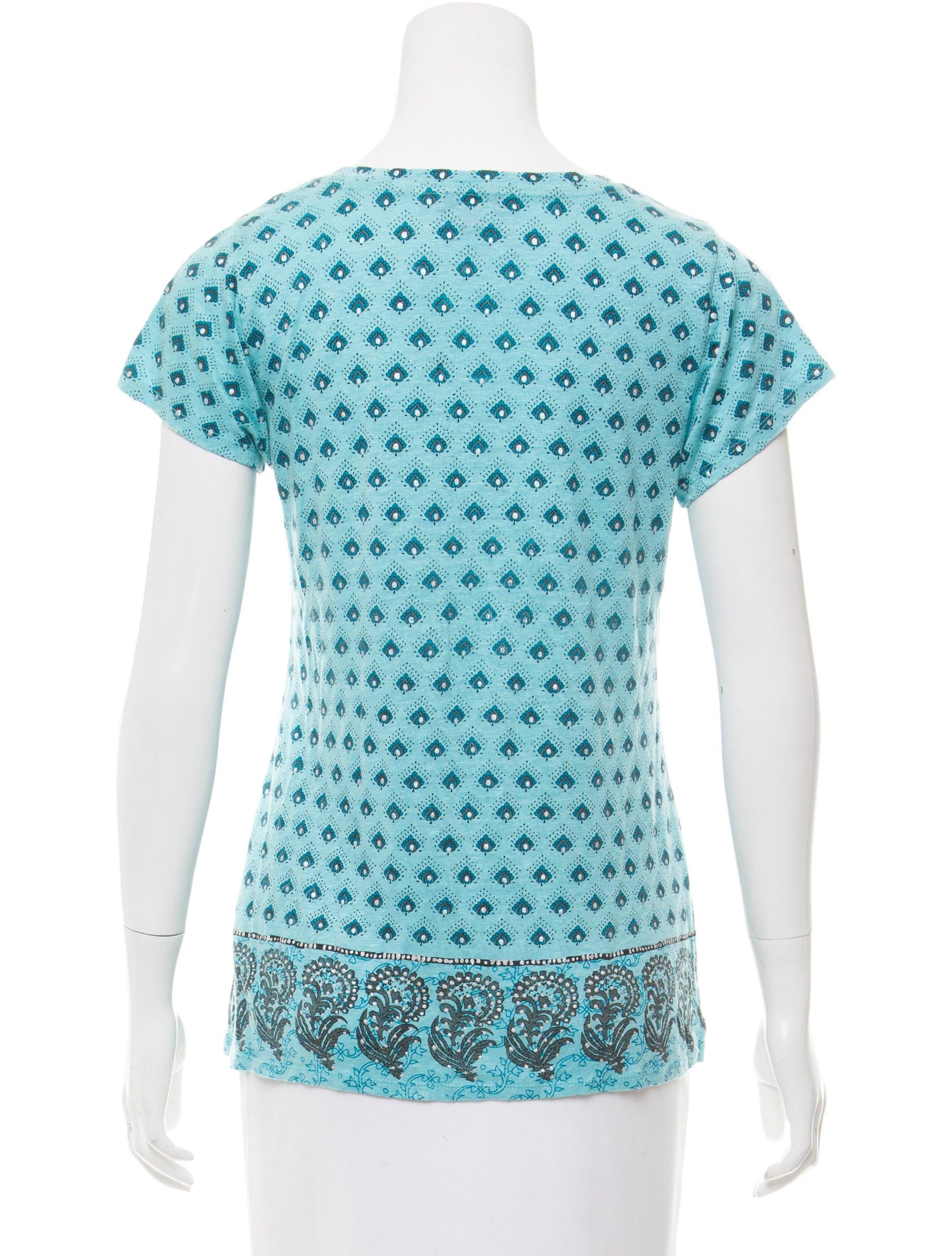 Calypso Printed Short Sleeve T Shirt Clothing Wc820638