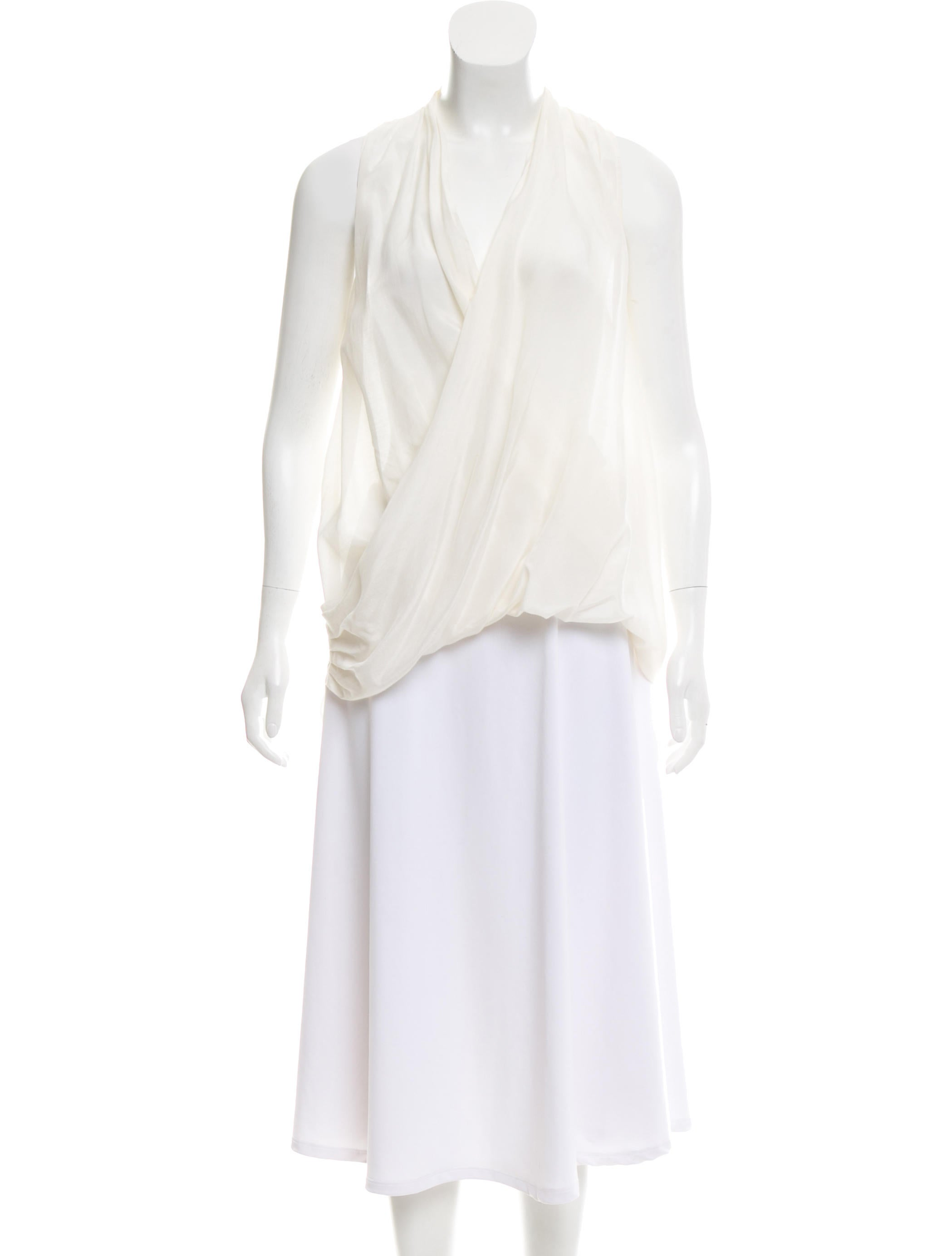 lyst product lanvin drapes blouse in gallery normal clothing draped white