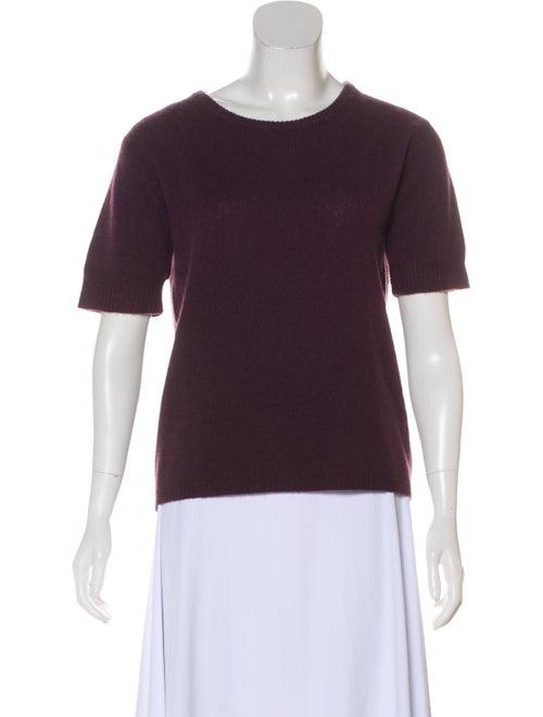 Calypso Cashmere Short Sleeve Sweater Plum