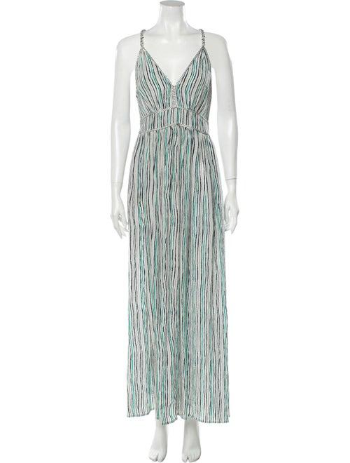 Calypso Silk Long Dress Green