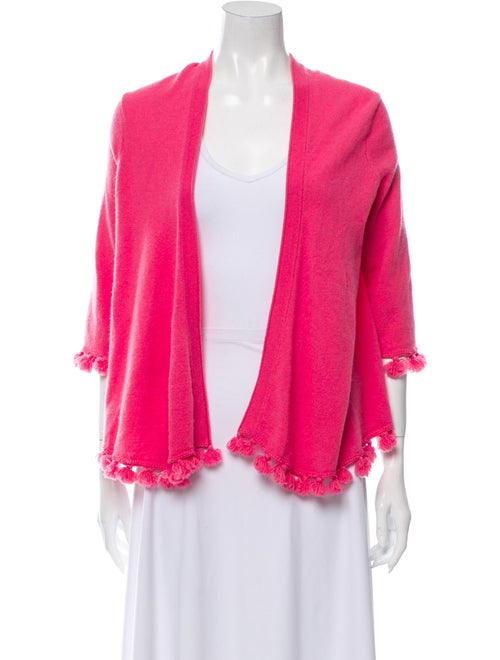 Calypso Cashmere Open Front Sweater Pink
