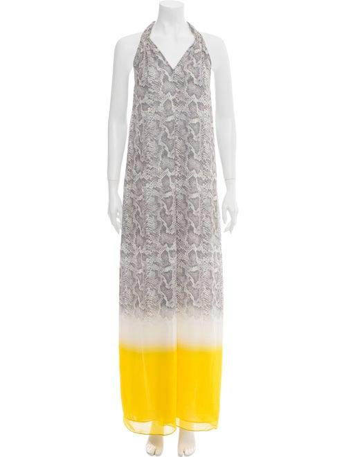 Calypso Silk Long Dress Yellow