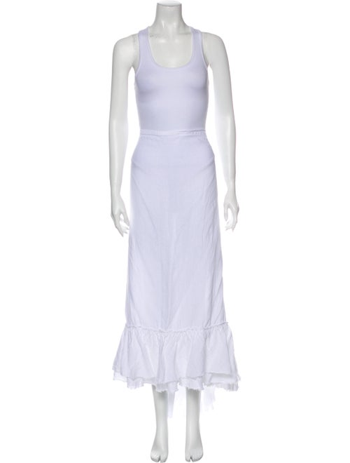 Calypso Linen Long Skirt White - image 1