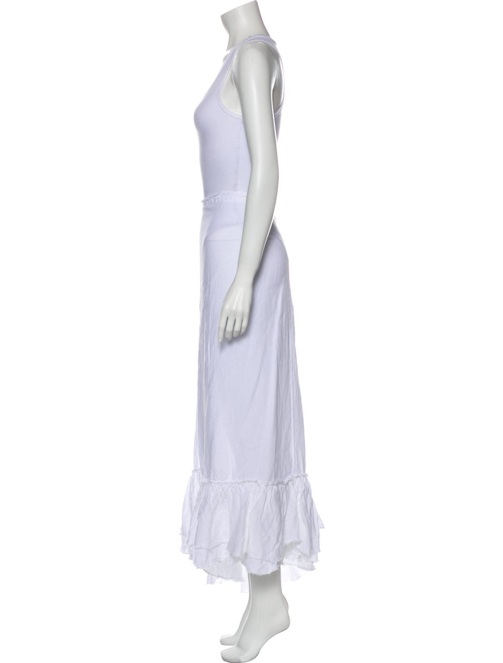 Calypso Linen Long Skirt White - image 2